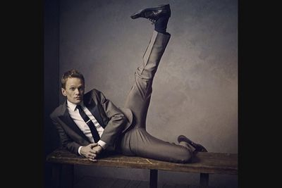 @vanityfair: High kicks with Neil Patrick Harris (@instagranph) at the Vanity Fair #oscars party portrait studio. Photo by @markseliger. #regram via @VFhollywood. #vfoscars