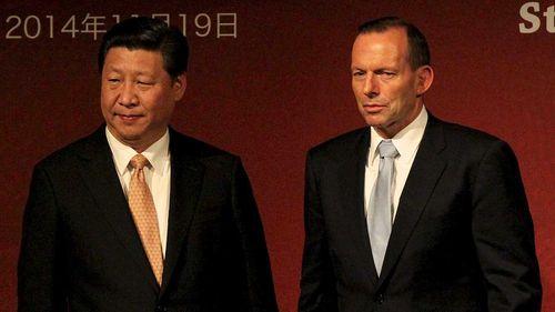 Xi Jinping and Tony Abbott in 2014.