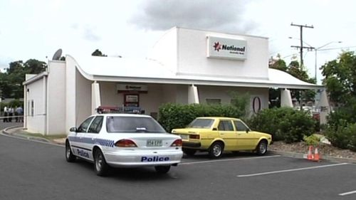 The bank at Browns Plains that was robbed by two men in 1999.