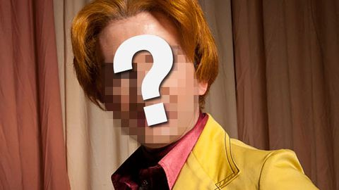 Which actor's had a creepy ginger make-over?