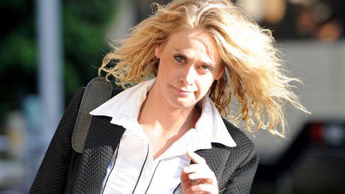 Kate DeAraugo outside court. (AAP)