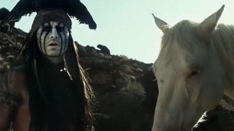 Horseplay with Johnny Depp in Lone Ranger. Image Credit: Jerry Bruckheimer Films/Walt Disney Pictures