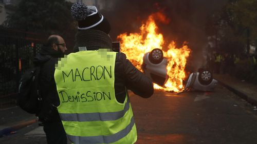 President Emmanuel Macron called emergency meetings yesterday in an attempt to soothe the anger.