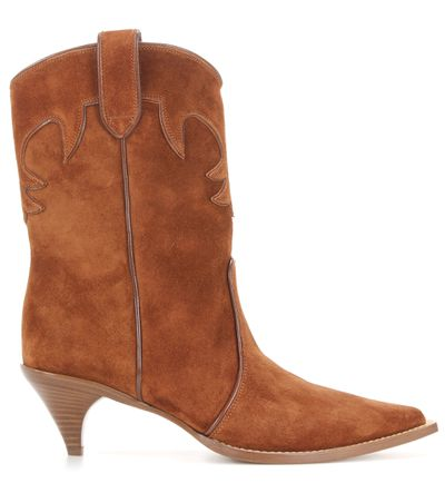 "<a href=""http://www.mytheresa.com/en-au/suede-cowboy-boots-578113.html"" target=""_blank"">Boots, $1830, Miu Miu</a>"