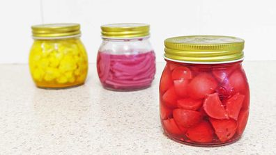 Easy fridge-pickles are a great trick for the cheeseboard, from cauliflower to red onion and baby radish