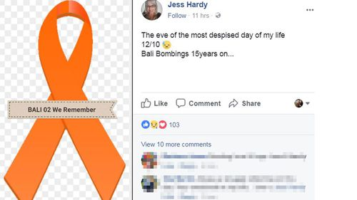 Jessica Hardy's bittersweet message for her brother, Billy, on the 15th anniversary of the 2002 Bali bombings. (Facebook)