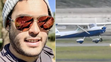 A trainee pilot has been hailed a hero, after taking the controls and landing a light plane at Jandakot in Perth's south when his instructor lost consciousness.