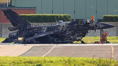 Mechanic's misfire destroys $27m Belgian fighter jet