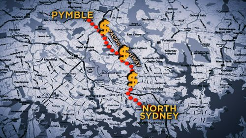 The Pacific Highway will be upgraded from Pymble to North Sydney at a cost of $23 million. (9NEWS)