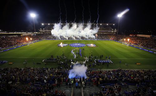 A crowd of 29,000 watched Melbourne Victory defeat the Newcastle Jets in the 2018 A-League grand final. (AAP)