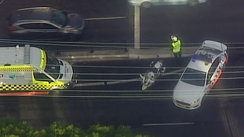 The injured man in his 80s was taken to Westmead Hospital suffering from severe leg injuries.