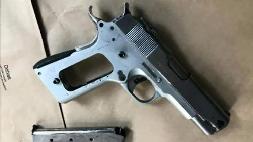 Police found a pistol while making the arrests in Sydney. (Supplied)
