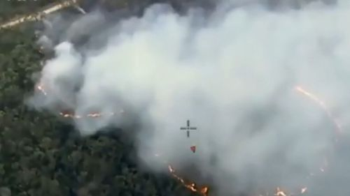 Reconnaisance flights by the NSW RFS revealed nine bushfires burning in remote bushland in the Blue Mountains. (NSW RFS)