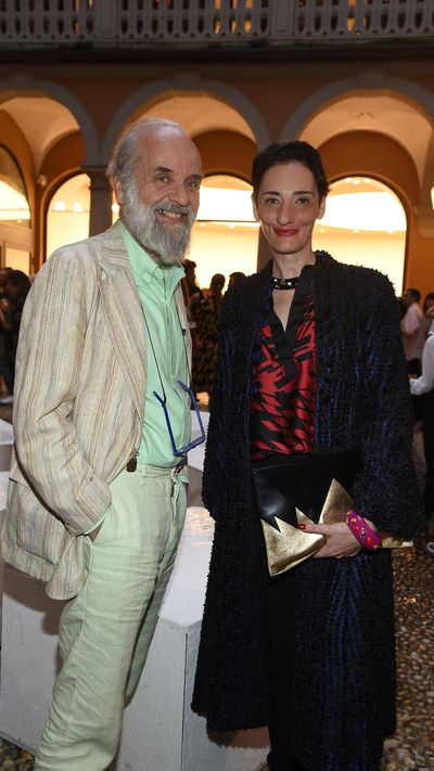 <p>Designer Barnaba Fornasetti and Sabrina Guerci.</p>