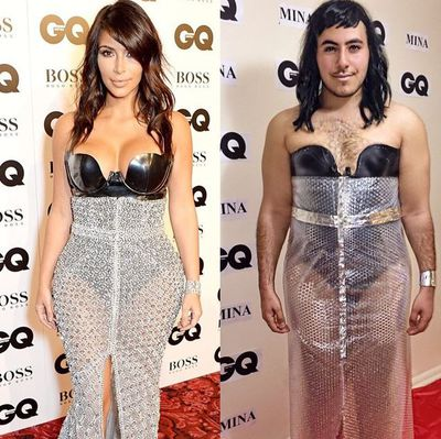 "<p>""Do you guys like my new&nbsp;@kimkardashian&nbsp;inspired bubble wrap dress?""</p>"