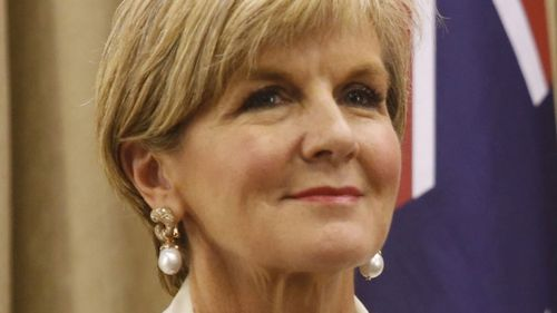 Foreign Minister Julie Bishop. (AAP)