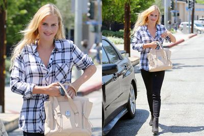 Claire's off-set style is considerably more casual.