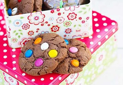 Spotty cookies with Smarties