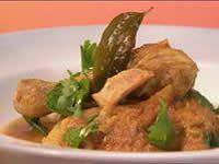 Chicken tamarind and coconut milk curry