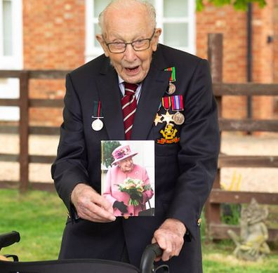 Captain Tom Moore gets birthday card from Queen