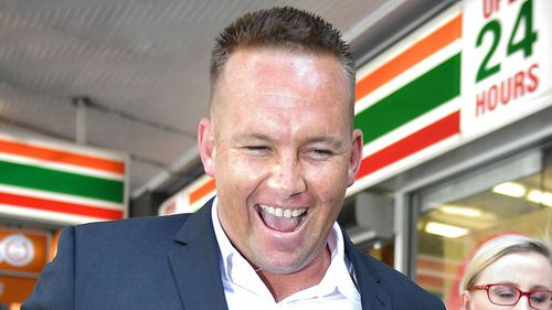 Matthew Scown laughs after leaving court last month. (AAP)