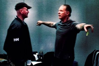 @metallica: Backstage at Glastonbury...just a couple of hours before show time! #glastonbury #glastallica