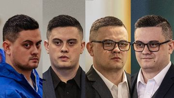 Jesse Shane Kempson at various court appearances, including after first being charged with murdering Grace Millane