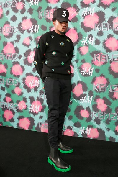 Chance the Rapper at H&M x Kenzo