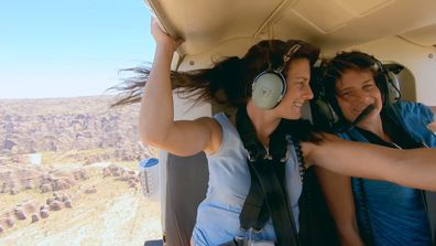 The Guides take a helicopter tour of Bungle Bungle Range