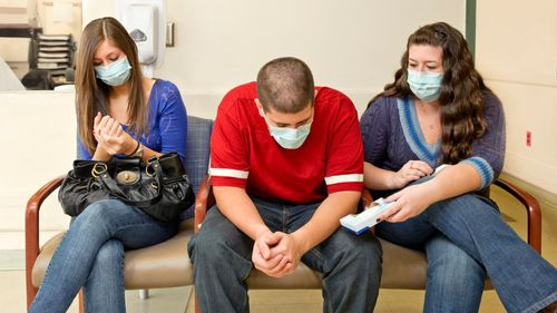 People have been encouraged to wash their hands and wear a mask this flu season. (File image)