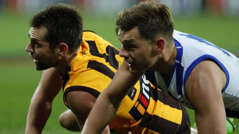 Hawthorn Hawks veteran Luke Hodge farewells Tasmania a winner over North Melbourne
