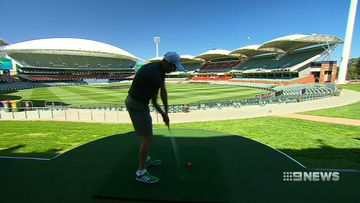 Adelaide Oval transformed into nine-hole golf course