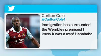 In 2010, the Football Association charged the West Ham footballer for inflammatory tweets during a friendly match between England and Ghana.