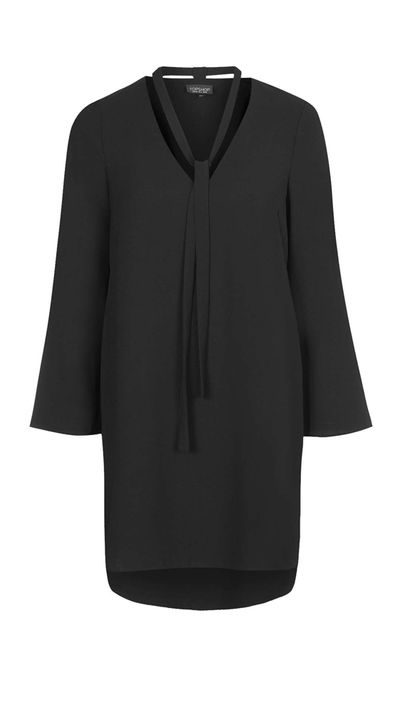 "<p><a href=""http://www.topshop.com/en/tsuk/product/clothing-427/dresses-442/tie-neck-tunic-dress-4555198?bi=40&ps=20"" target=""_blank"">Dress, approx. $86, Topshop</a></p>"