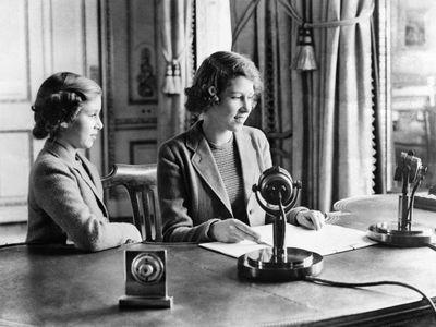 Princesses Elizabeth and Margaret, October 1940