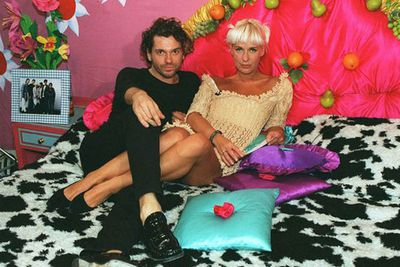 It was all eyes on the Geldof family when Paula, a TV presenter known for her flirtatious interviewing skills, ended her relationship with The Boomtown Rats singer in 1995. Not long after she swapped one frontman for another, in the form INXS singer Michael Hutchence.<br/><br/>(Image source: <i>The Big Breakfast</i>)