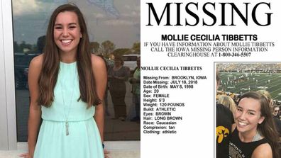 US college student Mollie Tibbetts is still missing