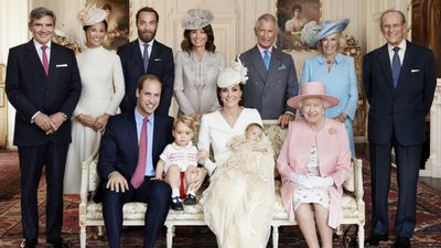 The royal family, including Queen Elixabeth II, Prince Phillip and Prince Charles, as well as the Middleton family. (Mario Testino /Art Partner, AAP)