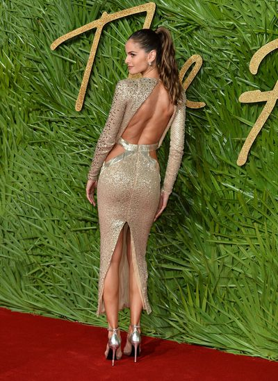 Izabel Goulart in Julien Macdonald at the Fashion Awards, London.