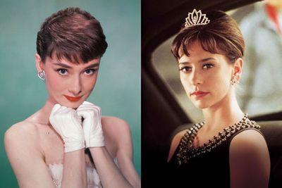 Left: Audrey Hepburn / Right: Jennifer Love-Hewitt