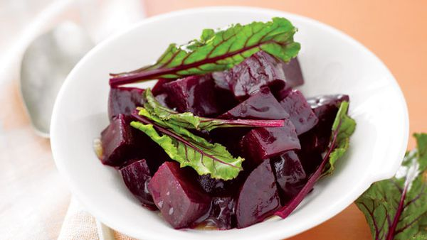 Beetroot with jelly glaze