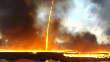 Rare 'firenado' filmed 'dancing' across UK