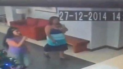 "<p _tmplitem=""25"">A Chilean woman claims she was aggressively hurled to the ground by a ghost while standing in a law firm office, and says this CCTV proves it.</p> <p _tmplitem=""25"">Determined to clear her name, Cecilia Carrasco, 34, offered up footage of the embarrassing slip-up, which saw her hospitalised with head injuries on December 27.</p> <p _tmplitem=""25"">""It was not a slip or anything like that because the tiles were not wet,"" she told Chilean TV channel <a _tmplitem=""25"" href=""http://www.chilevision.cl/matinal/noticias/fenomeno-paranormal-detalles-de-la-extrana-caida-de-una-mujer/2015-01-26/111930.html"">ChileVision</a>.</p> <p _tmplitem=""25"">The revealing clip shows Ms Carrasco enter the reception area of the office on the day in question.</p> <p _tmplitem=""25"">She pauses for a moment and raises her right arm to greet the receptionist before suddenly flipping backwards, landing hard on her back.</p> <p _tmplitem=""25"">It is not clear if this gesture prompted its ire or from which angle the otherworldly assailant attacked.</p> <p _tmplitem=""25"">""There was no one in front of me as I passed the front desk and spoke to with a girl, and as I looked toward the receptionist suddenly I felt two hands push me backwards,"" Ms Carrasco continued.</p> <p _tmplitem=""25"">""I hit the floor, but when I looked I could not see anyone and I thought they had probably fled.</p> <p _tmplitem=""25"">""When the receptionist told me that there was nobody there, I didn't believe them until they showed me the footage. Now I am convinced that it was a ghost because I felt the hands even though there was nobody around.""</p> <p _tmplitem=""25"">Parapsychologost Rodolfo Orozco told <a _tmplitem=""25"" href=""http://www.eltribuno.info/una-mujer-es-empujada-un-ente-paranormal-n499862""><em _tmplitem=""25"">El Tribuno</em></a> said an investigation of the energy levels in the building could support Ms Carrasco's claim.</p> <p _tmplitem=""25"">However, her doctor was not so sure, saying it's likely she was simply confused after a nasty knock to the head.</p><p _tmplitem=""1"">Click through the gallery to see other questionable ghost videos.</p>"