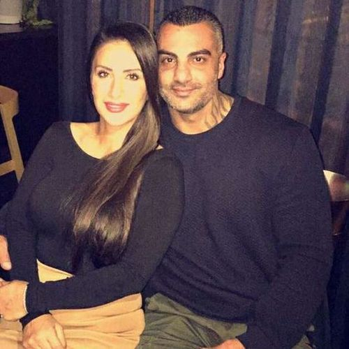 Mick Hawi and widow Carolina Gonzales before the ex-bikie boss' untimely death in February. (Supplied)