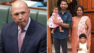 Peter Dutton and the Tamil asylum seeker family.
