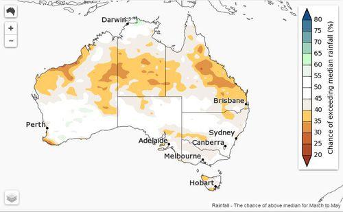 Australia weather heatwave Autumn forecast BoM
