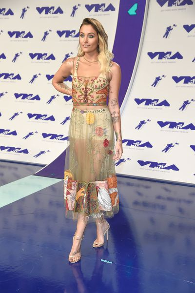 <p>WIN</p> <p>Paris Jackson in Christian Dior at the MTV VMAs in LA on August 29.</p> <p>Sassy and sophisticated.<br /> <br /> </p>