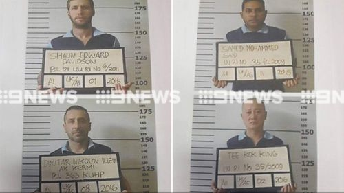 Balinese officials have released photos of the escapees. (Supplied)