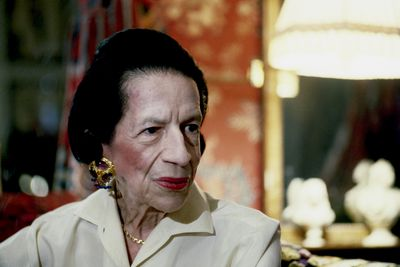 "Former <em>Vogue</em> editor and author Diana Vreeland. ""I wasn't a fashion editor, I was the one and only fashion editor,"" said Vreeland."