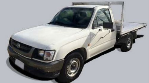 A ute similar to the one the man was driving. (Victoria Police)